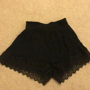 Pants - Black lace shorts